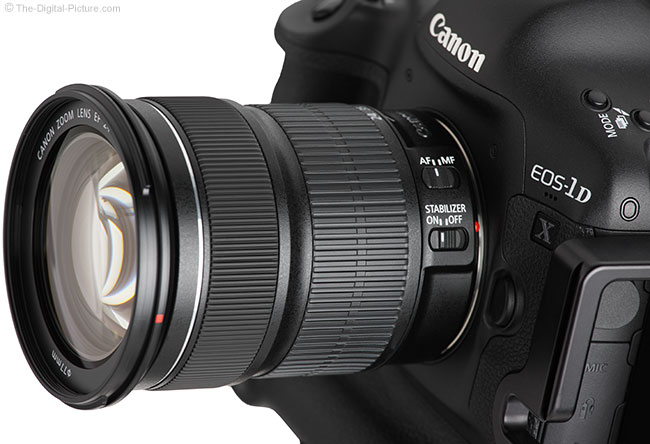 Canon EF 24-105mm IS STM Lens – Side View Closeup