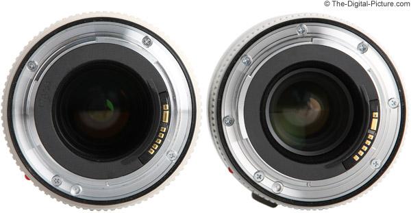 Lens Comparison Length Canon