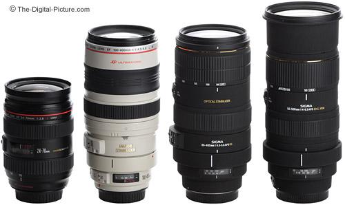 Canon and Sigma Telephoto Super Zoom Lenses