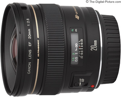 Canon EF 20mm f/2.8 USM Lens Tested on the EOS 5Ds R