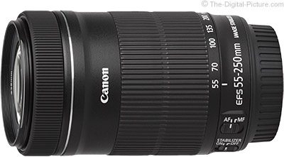 Refurb. Canon EF-S 55-250mm f/4-5.6 IS STM Lens - $  169.95 Shipped (Compare at $  299.00 New)