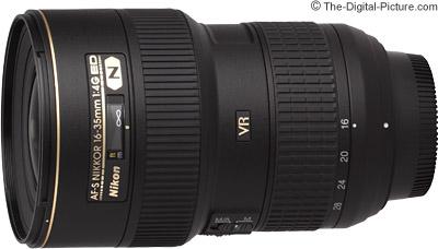 Nikon AF-S 16-35mm f/4G ED VR Lens - $  899.00 (Compare at $  1,096.95)
