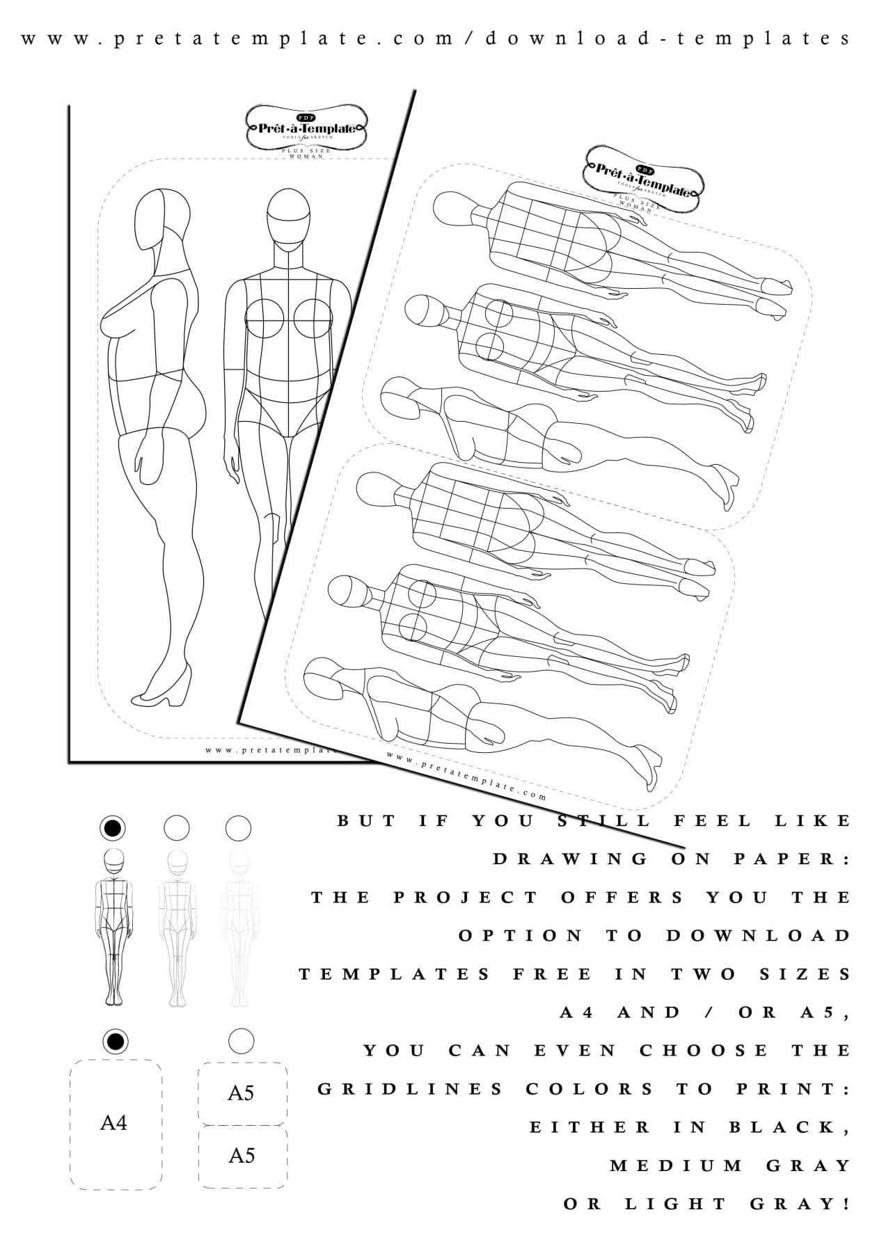 Cool News! Prêt-à-Template Your Plus Size Fashion Sketch
