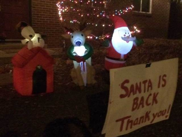 Inflatable Grinch Stole Christmas