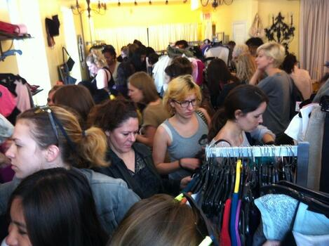 Over Sixty Swappers Cram Black Eyed Susie for Clothing Exchange