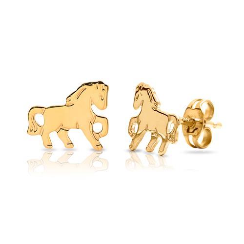 Ohrstecker Kinder 333er Gold Pferde KE0132
