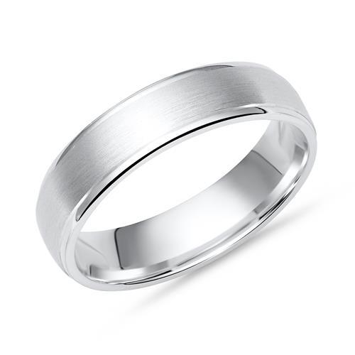 Schlichter Ring 925 Silber polierte Kanten 5mm R8505SL