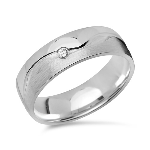 Eheringe 925 Silber Partnerringe Zirkonia R8529s