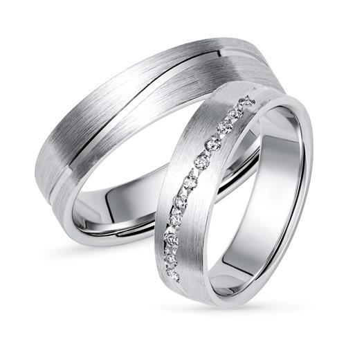 Trauringe 925er Silber Partnerringe R8576s