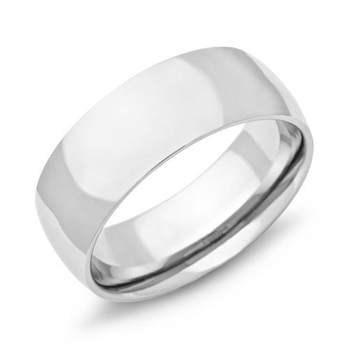 Ring Edelstahl poliert 8mm Gravur mglich R9101