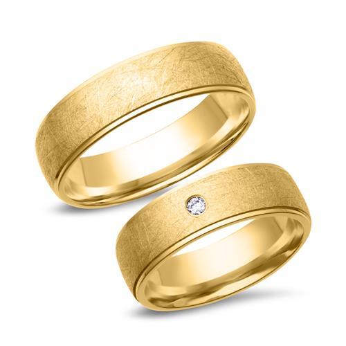 Eheringe 585er Gelbgold mit Diamant WR03615s