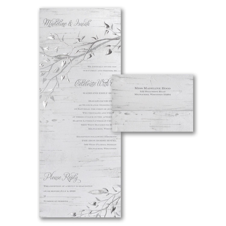 Silver Bark  Seal n Send  Wedding Invitations  Discount Wedding Invitations  Peoria AZ