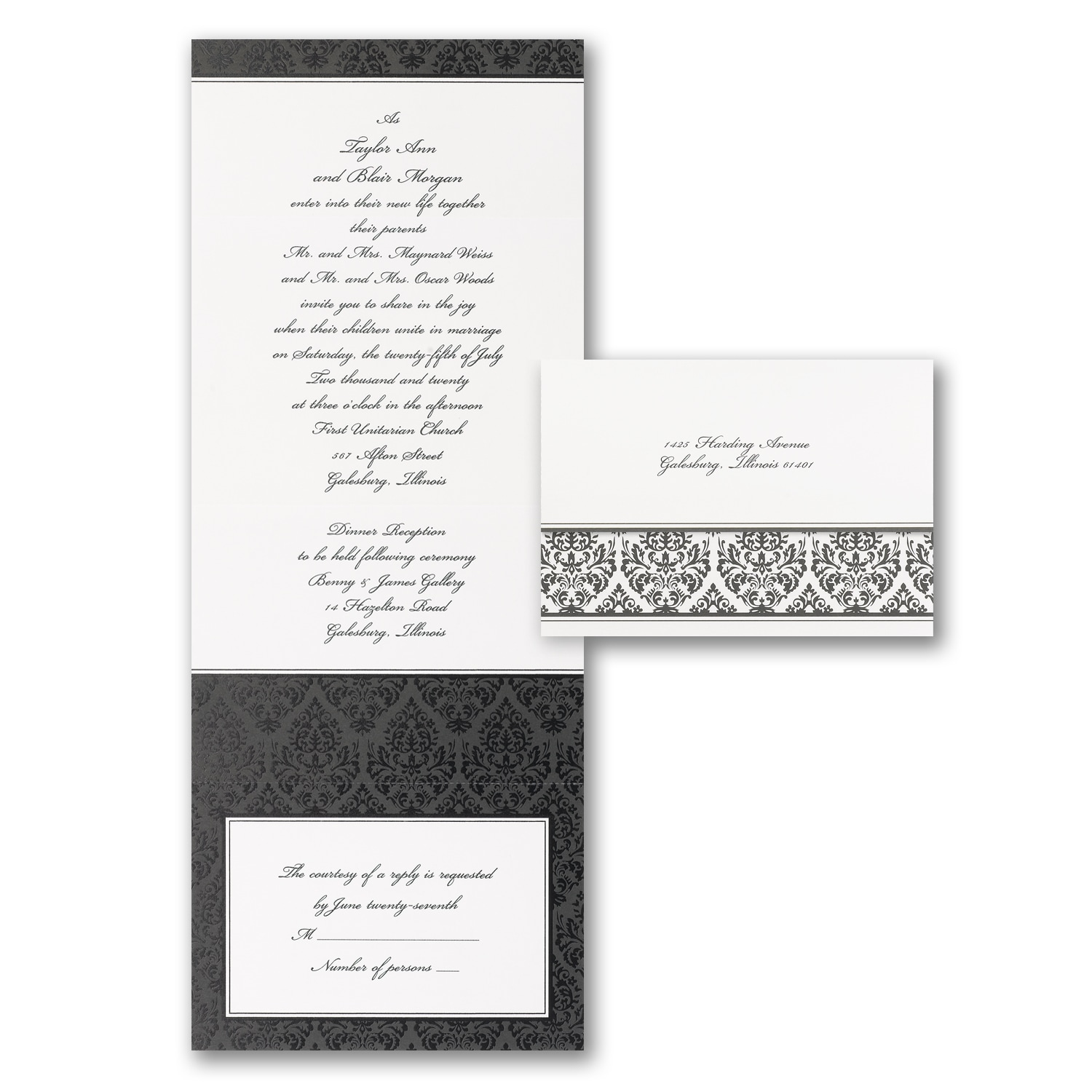 Tailored Damask  Seal n Send  The Party Block  Houston TX