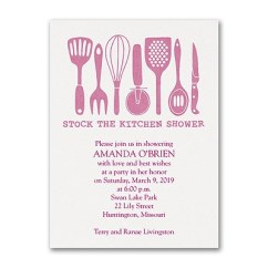 Kitchen Bridal Shower Low Cost Cabinets Stock The Invitation
