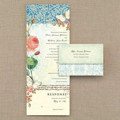 Ombre Lace  Seal n Send Invitation  Wedding Invitations  MiTe Fast Printing  CHICAGO IL