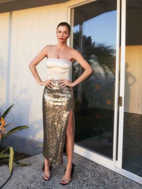 Gold Sweeney Skirt