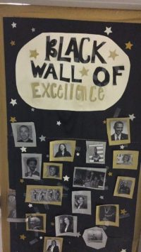 black history door decorations