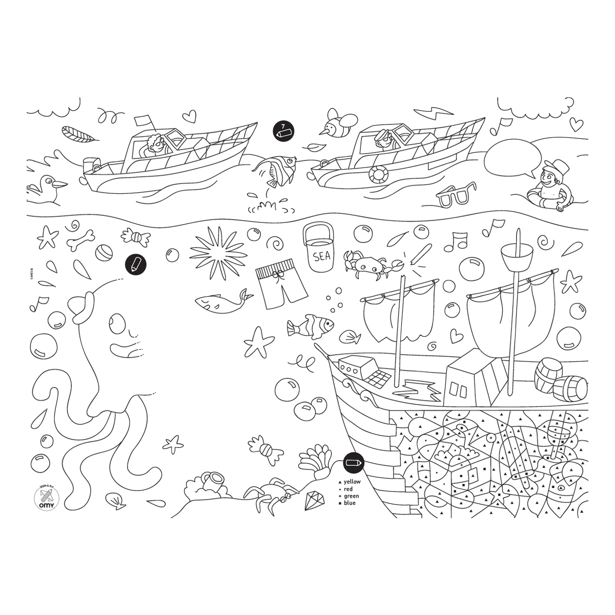 Omy Paper Coloring Placemats
