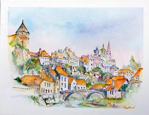 「ブルゴーニュ風景画」