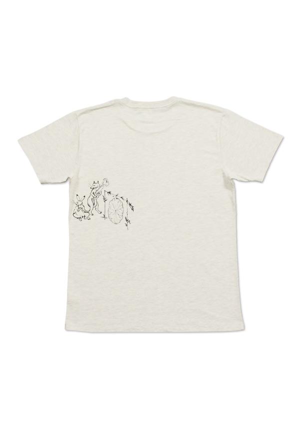 ベーシックTシャツ/弓矢(鳥獣戯画)(ヘザーナチュラル)