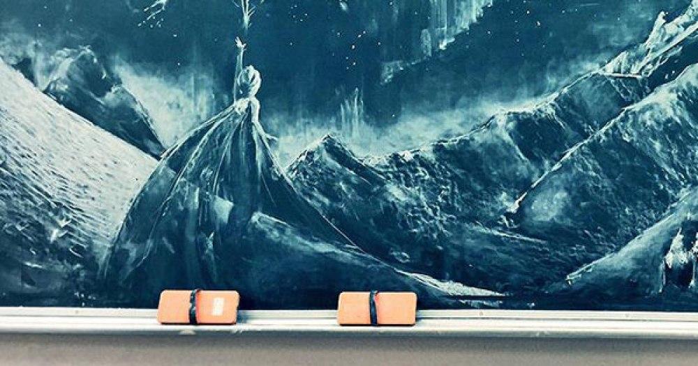 黒板アート アナ雪