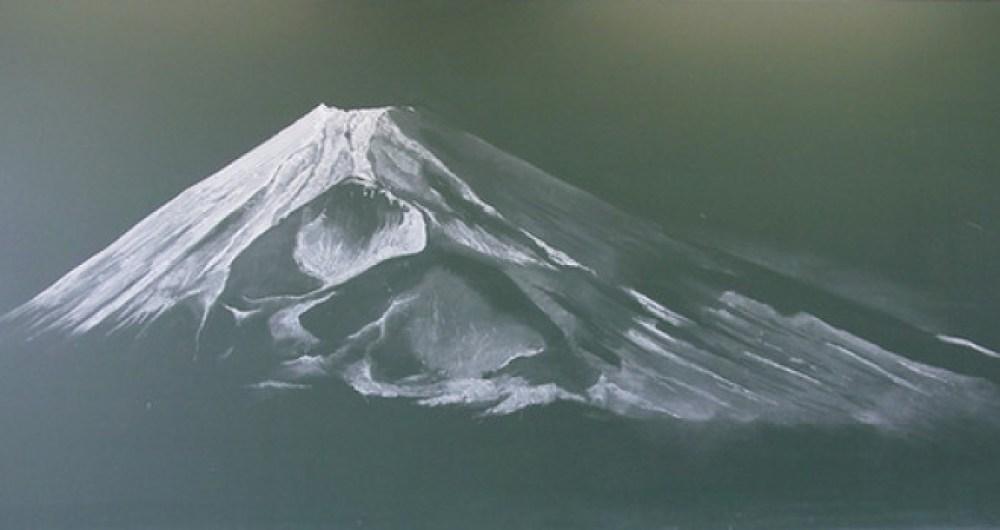 黒板アート 富士