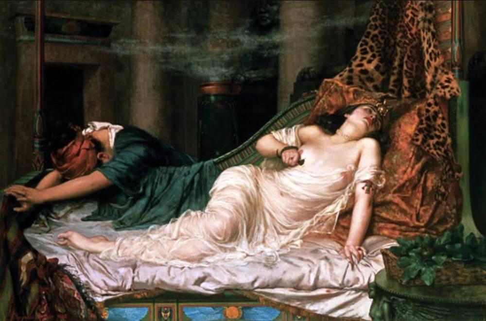 怖い絵 クレオパトラの死