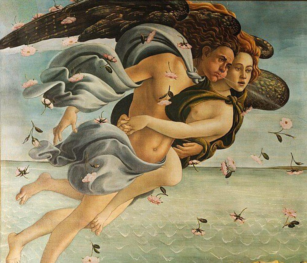 西風の神ゼフィロスとニンフ