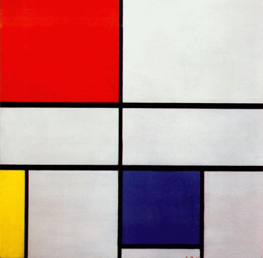 赤、黄、青のコンポジションC