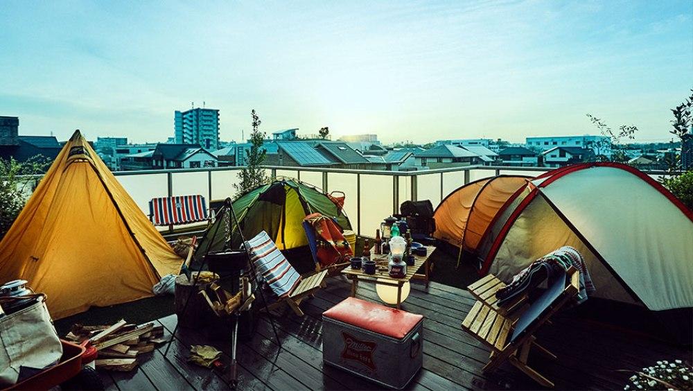 ベランピング テント+寝袋
