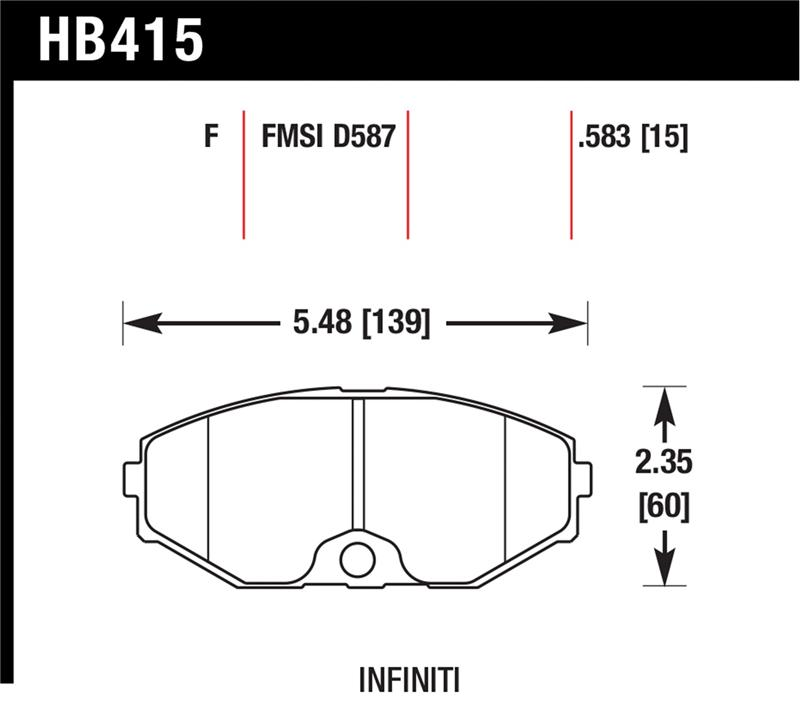 Hawk Performance Hb415f.583 Hps Performance Ceramic Brake