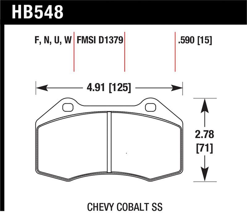 Hawk HB548U.590 Dynamic Torque Control Brake Pads