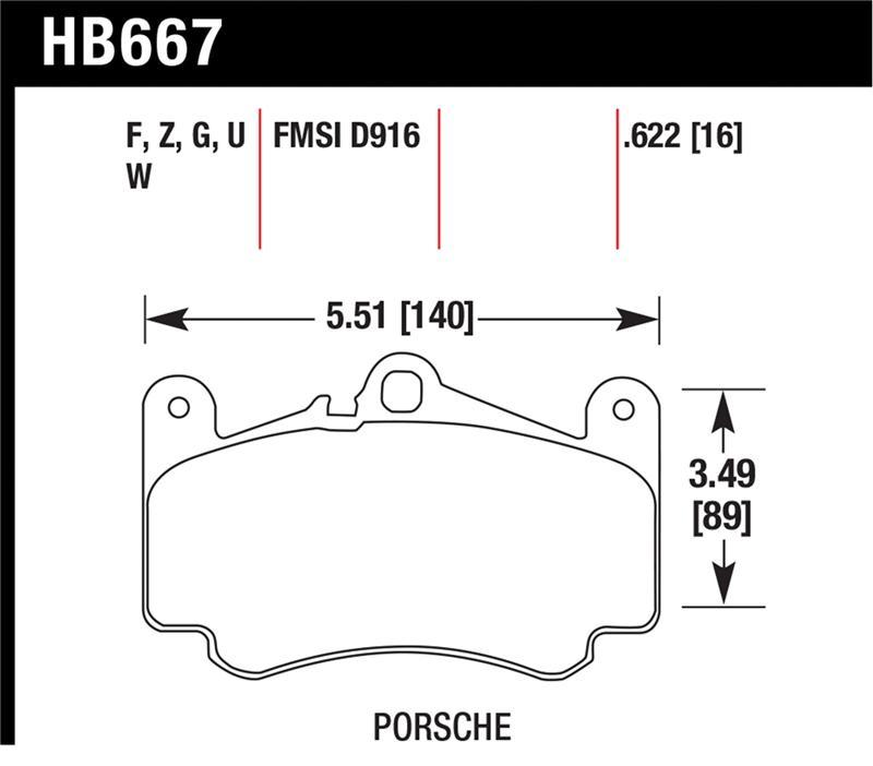 Hawk HB667F.622 High Performance Street Brake Pads
