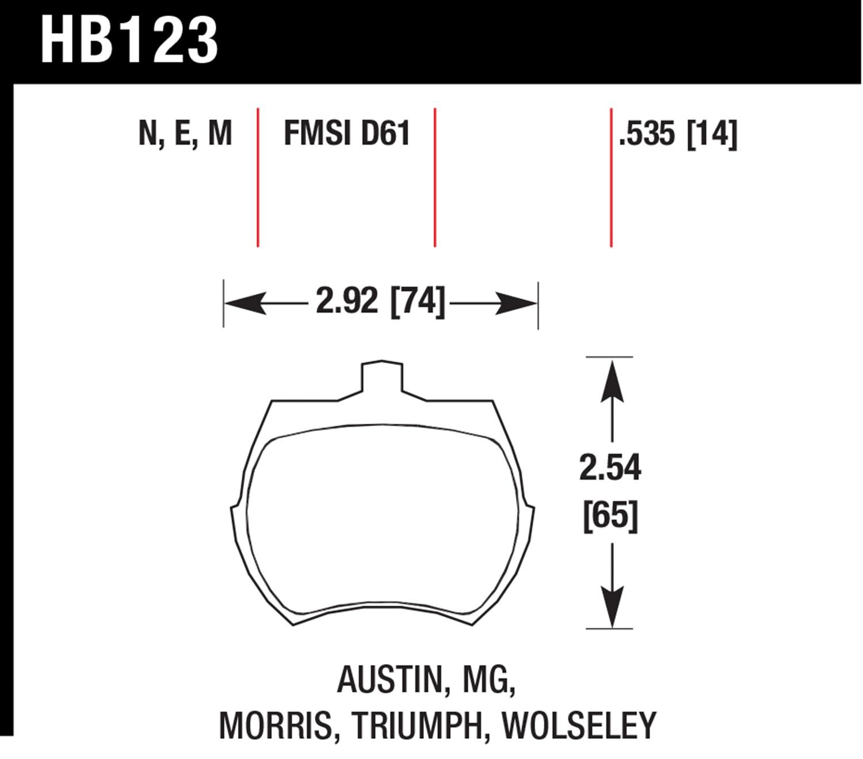 Hawk HB123F.535 High Performance Street Brake Pads