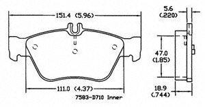 Power Stop Pm18-710 Posi-Mold Metallic Brake Pads