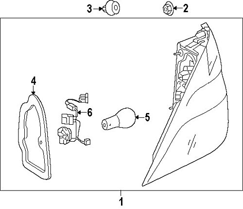 GENUINE MERCEDES 166-906-35-01 Taillight Assembly