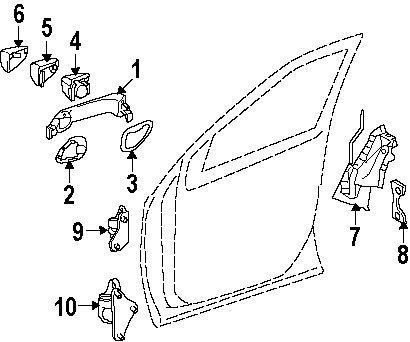 GENUINE MERCEDES 164-720-19-35 Door Lock Mechanism