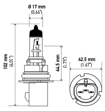 Hella H71070387 Optilux HB5 9007 Xenon Bulb 12V 100/80W