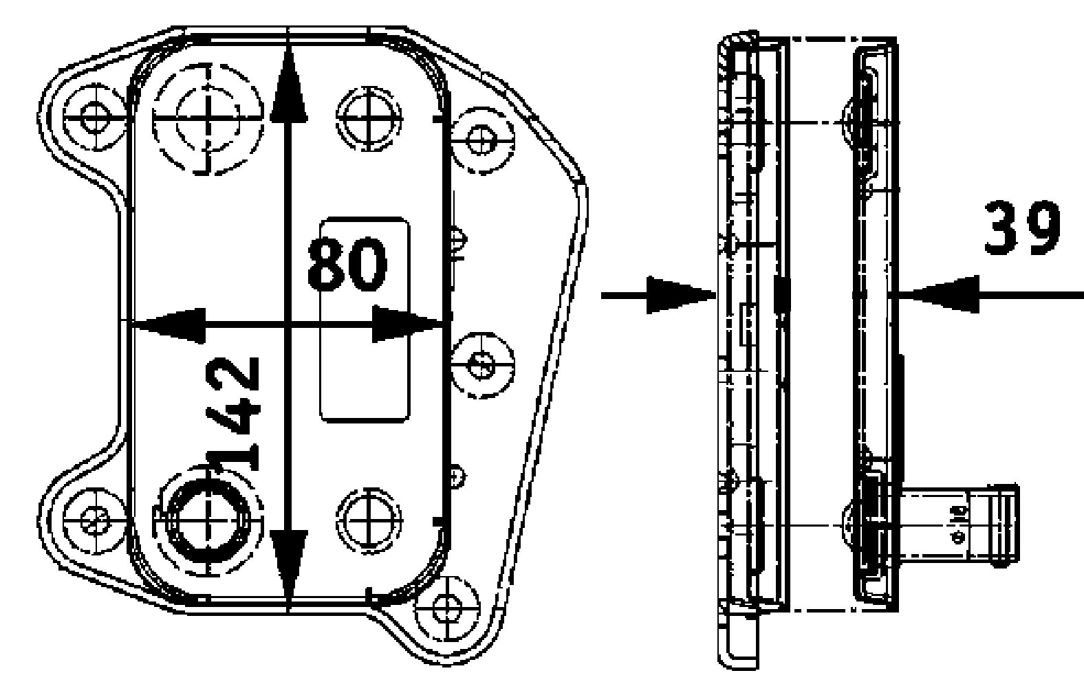 Hella 376726321 Oil Cooler Dodge Sprinter 2003-2006