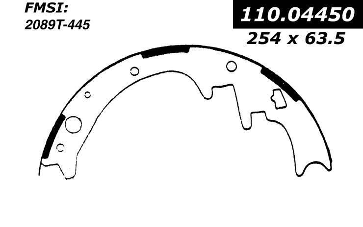 centric 111_04450 1967 Plymouth Satellite Brake Shoe Set