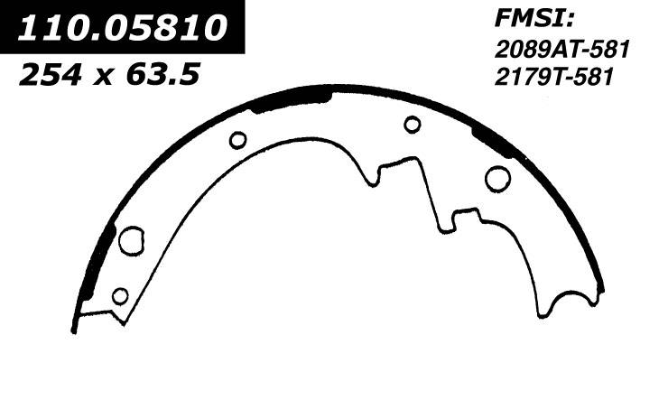 centric 112_05810 1966-1966 Ford Fairlane Brake Shoe Set