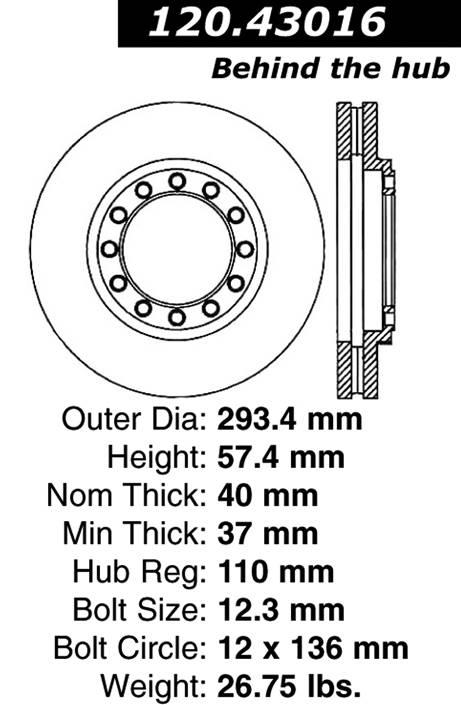centric 120.43016 Centric Parts 120.43016 Premium Brake