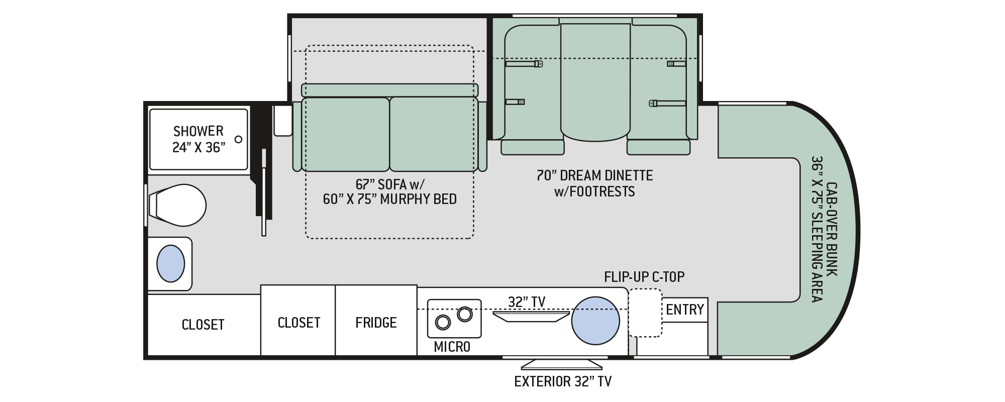 Floor Plan Siesta Sprinter: 24MB