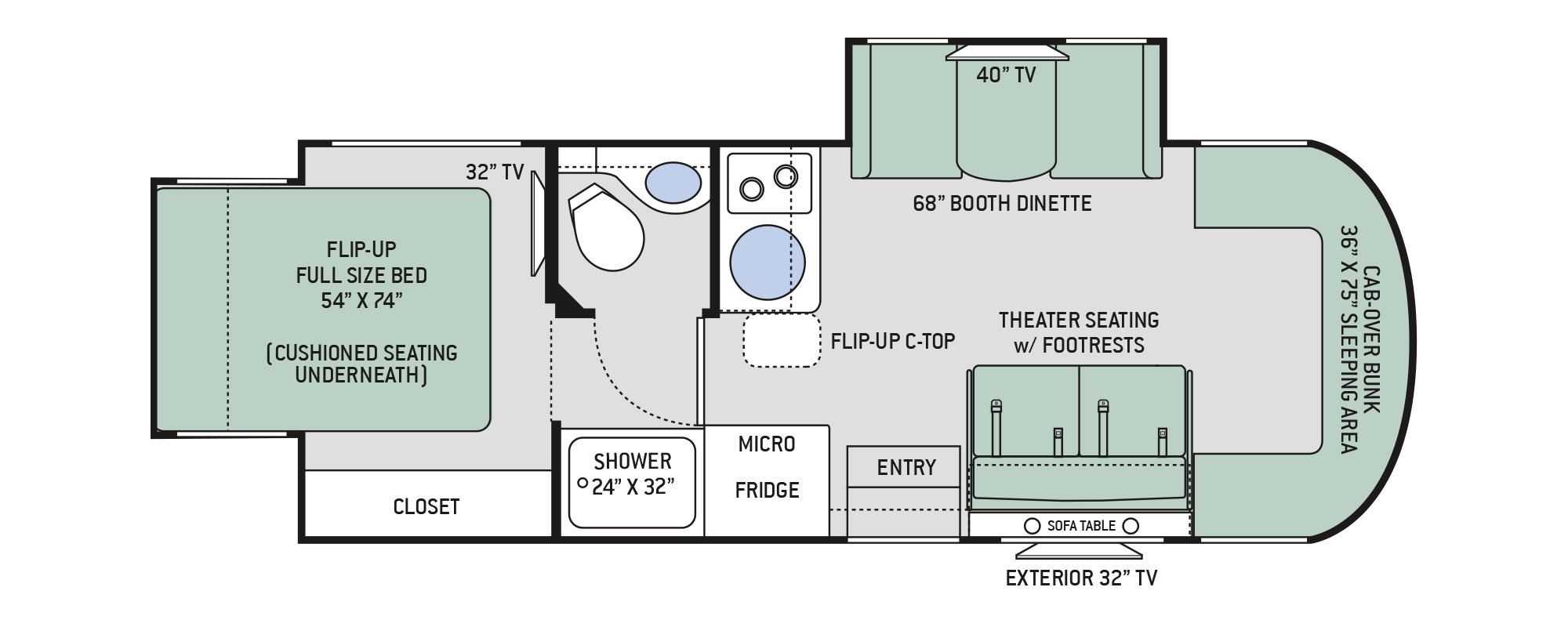 Floor Plans Siesta Sprinter: 24SK