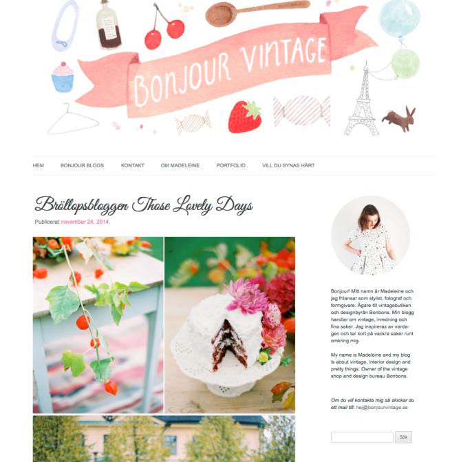 bonjour vintage blogg