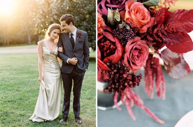 bröllopsinspiration i vinrött