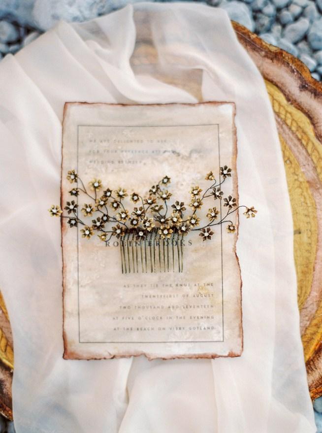 hårkam clematis designad av mässingsblommor och swarovskikristaller the wild rose accessories