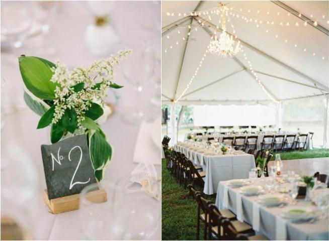 bröllopsmiddag i tält med stringlights i taket