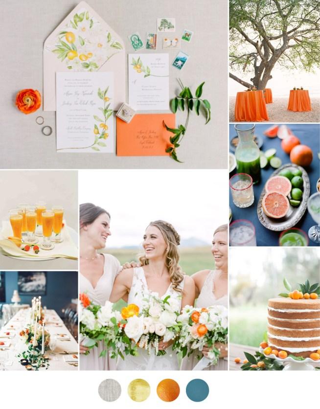 Citrus som koncept till bröllopet