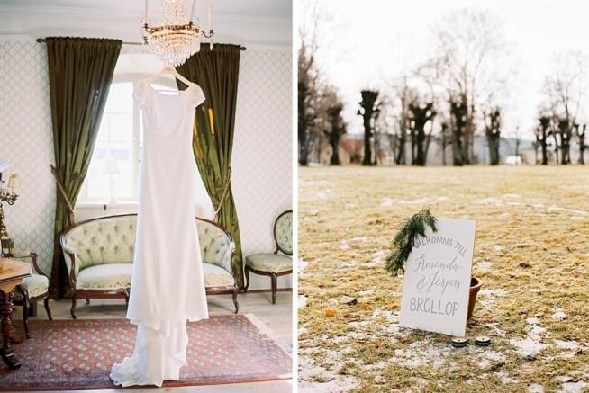Vinterbröllop på Hedenlunda Slott fotograferat av 2 Brides Photography